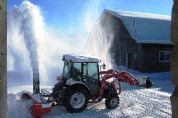 Снегоротор на трактор уборка снега