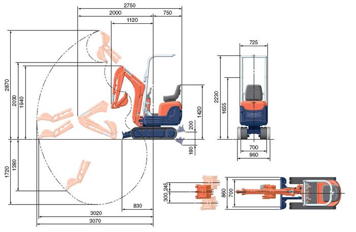 kubota k008 технические параметры